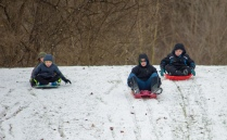 2019 01 21 (88) Ryan, Logan, Riley, Austin Sledding