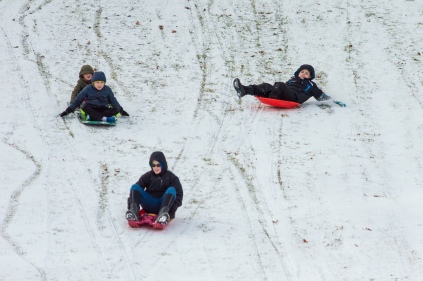 2019 01 21 (91) Ryan, Logan, Riley, Austin Sledding