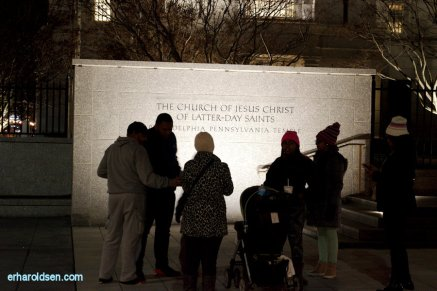 161227 (176) People Silhouetted against Philadelphia Temple Sign