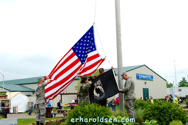 2018 05 18 (35) Dayton Hamfest, Flag Raising